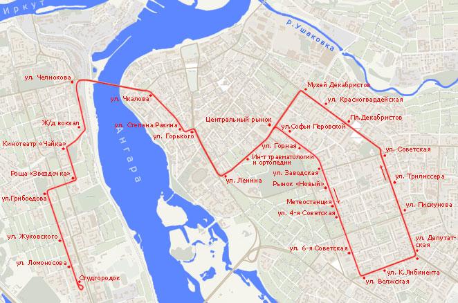 Трамвайный маршрут N 1,