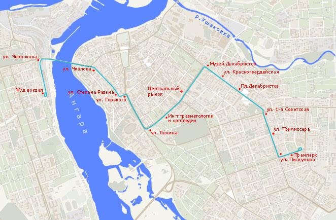 Трамвайный маршрут N 2,