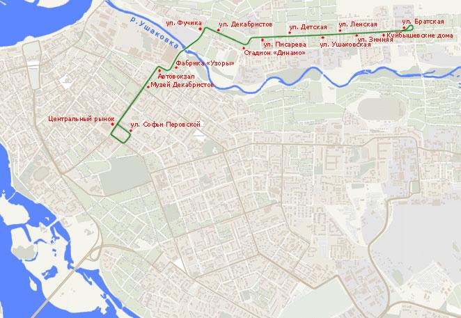 Трамвайный маршрут N 4,