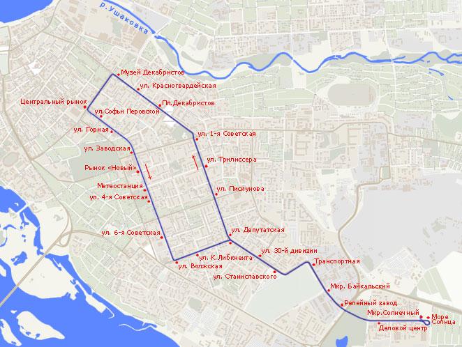 Трамвайный маршрут N 5,