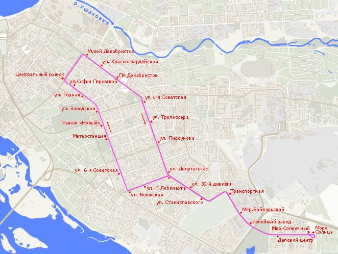 Трамвайный маршрут N 6,