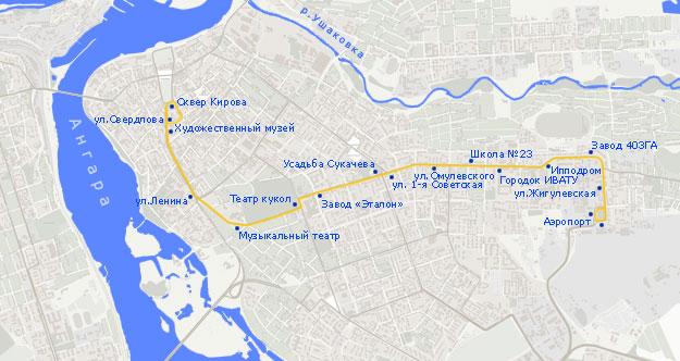 Троллейбусный маршрут N 4,