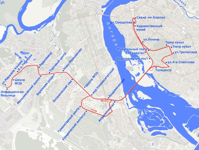Троллейбусный маршрут N 5,