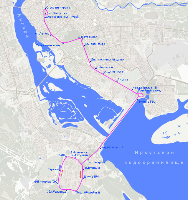 Троллейбусный маршрут N 8,
